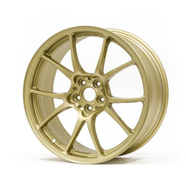 TWS Motorsport T66-F 18×8″ +44 5×100 Flat Gold Finish Wheel Set