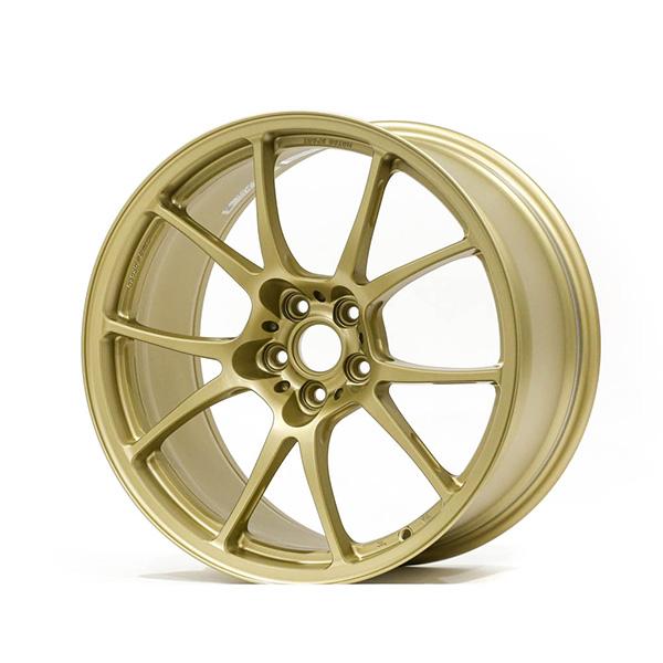 TWS Motorsport T66-F 18×9.5″ +45 5×100 Flat Gold Finish Wheel Set