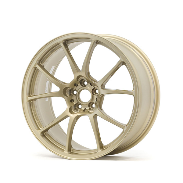 TWS Motorsport T66-F 18×9 +44 5×100 Flat Gold finish wheel set