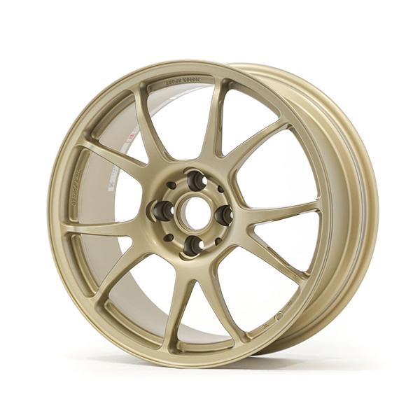 TWS Motorsport T66-F 17×8 +34 4×100 Flat Gold finish wheel set