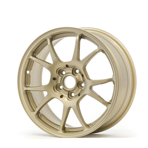 TWS Motorsport T66-F 16×7 +48 5×100 Flat Gold finish wheel set