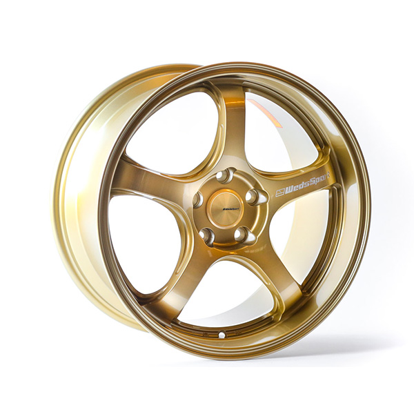 WedsSport RN-05M 18×9.5 +38 5×100 Gold finish wheel set
