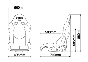 Bride Stradia II XL Dimensions