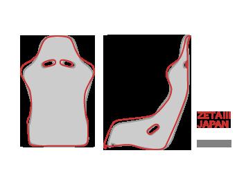 Bride ZETA III - Japan Edition Dimensions