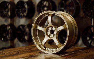 WedsSport RN-05M 18×9.5 +38 5×100 Gold finish custom wheel set