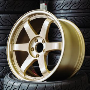 """Volk Racing TE37SL 18x9.5"""" +45 5x114.3 custom finish GOLD wheel set"""